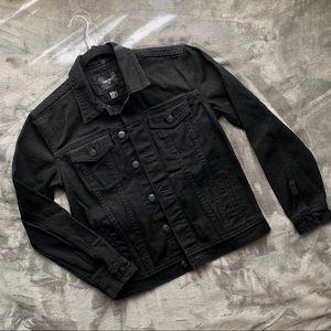 Forever 21   men's black denim jacket
